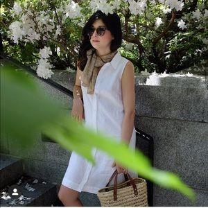 Garnet Hill Linen Shirt Dress 0